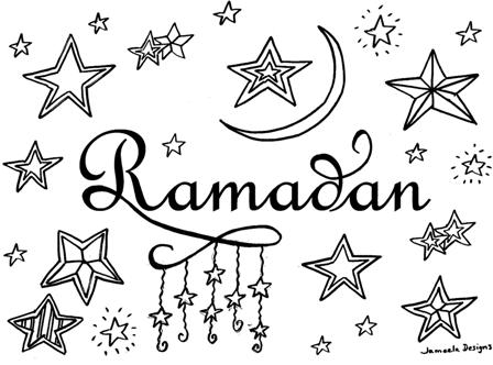 Ilma education ramadan crescent colouring sheet for Ramadan coloring pages