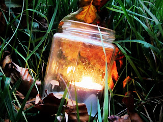 Tealight in Jar for Candlelight Walk, Russborough House