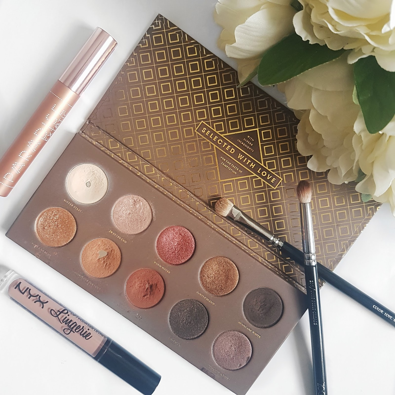Zoeva cocoa blend eyeshadow palette and other makeup items