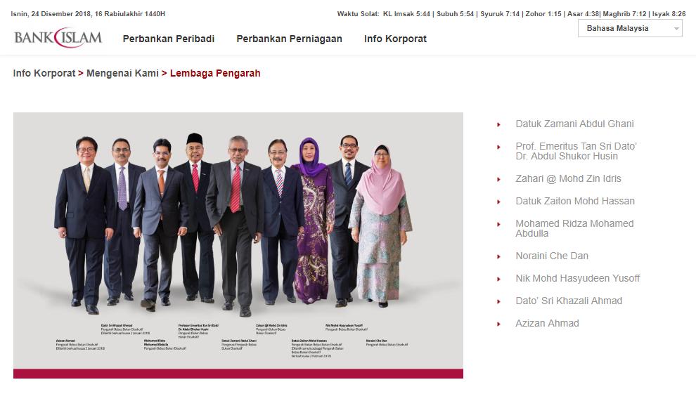 Lembaga Pengarah Bank Islam
