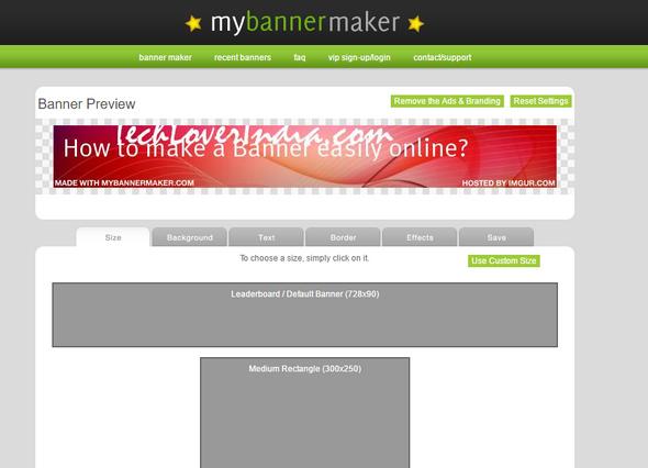 MAKE A Banner online