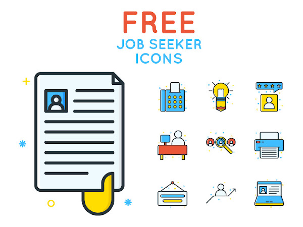 Download Job Seeker Icons Vector Free