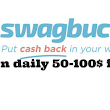 How can earn 50-100$ gift card free from SwagBucks?