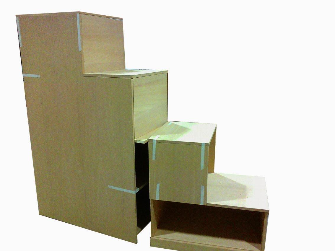 Mobili lavelli scala contenitore per soppalco for Costruire una scala in legno per soppalco
