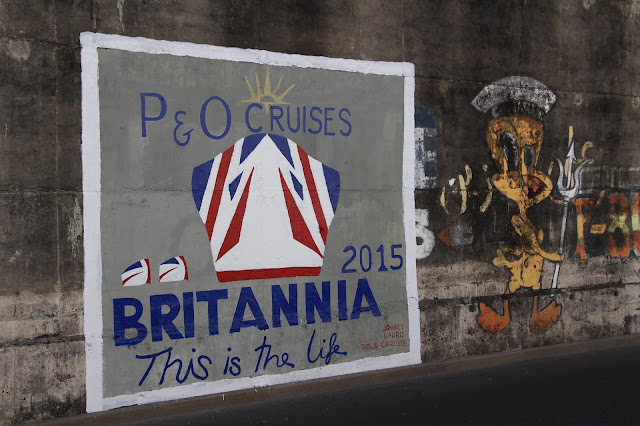 Britannia cruise ship painting in Funchal port