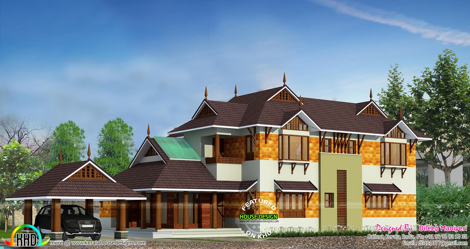 2808 sq-ft 4 bedroom house architecture | Kerala home design