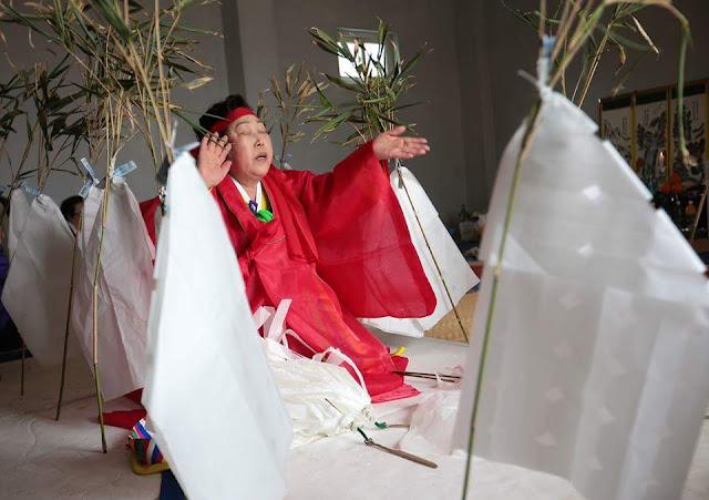 Woman at Yeongdeunggut Chilmeoridang Ritual