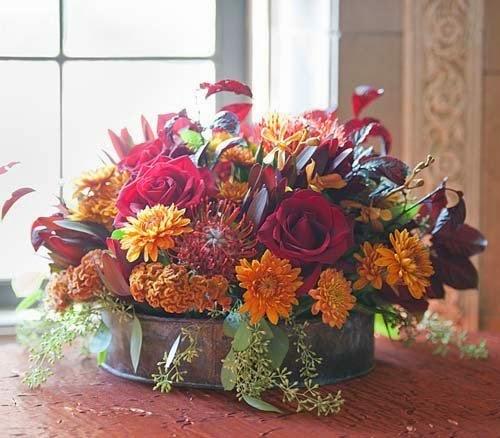 2014 Beautiful Fall Wedding Centerpieces By Azalea Floral