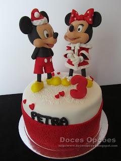 A Minnie e o Mickey foram ao 3º aniversário da Petra