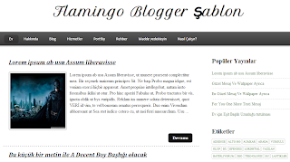 Flamingo Blogger Şablonu