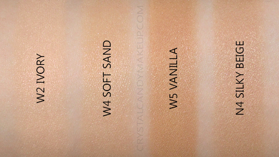 Nude by Nature Radiant Loose Powder Foundation Swatches MAC Shade Equivalencies NC15 NC25 NC40 NW30