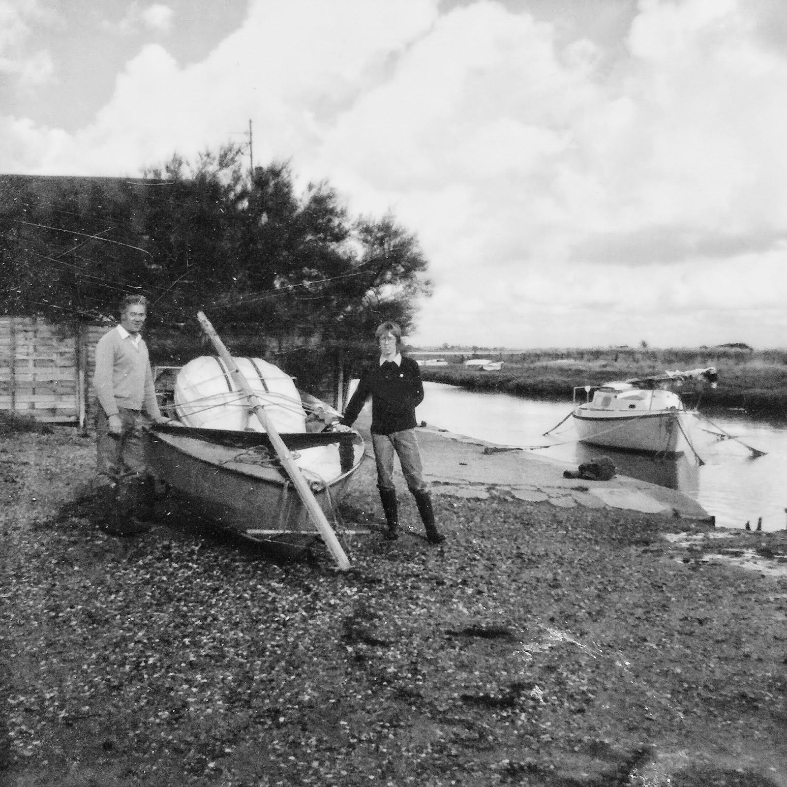 john cottee left and me at kirby quay c 1982