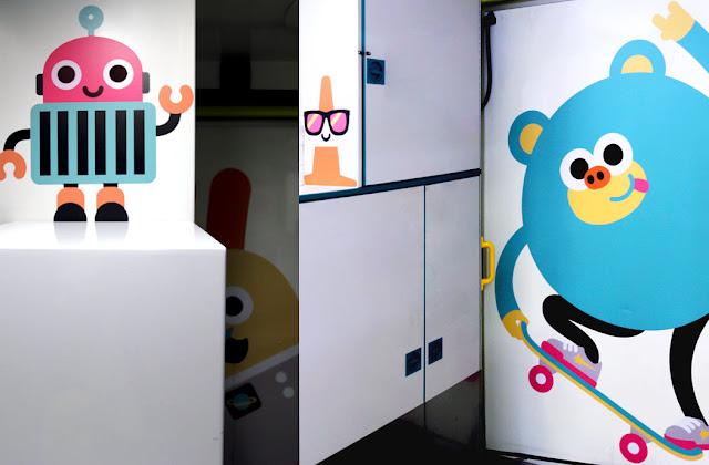 Divertidas ilustraciones para alegrar el interior de las ambulancias en las que se transportan a los bebés y a los niños hacia los hospitales