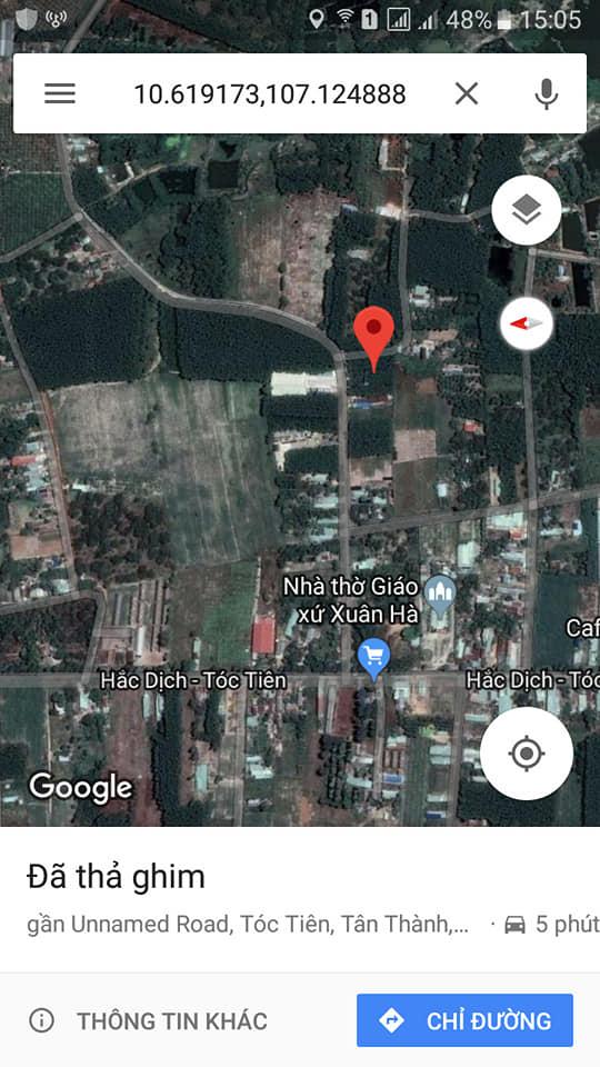 Bán đất đường Hắc Dịch - Tóc Tiên, huyện Tân Thành, Bà Rịa - Vũng Tàu
