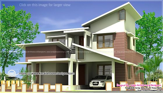 Slop roof house design