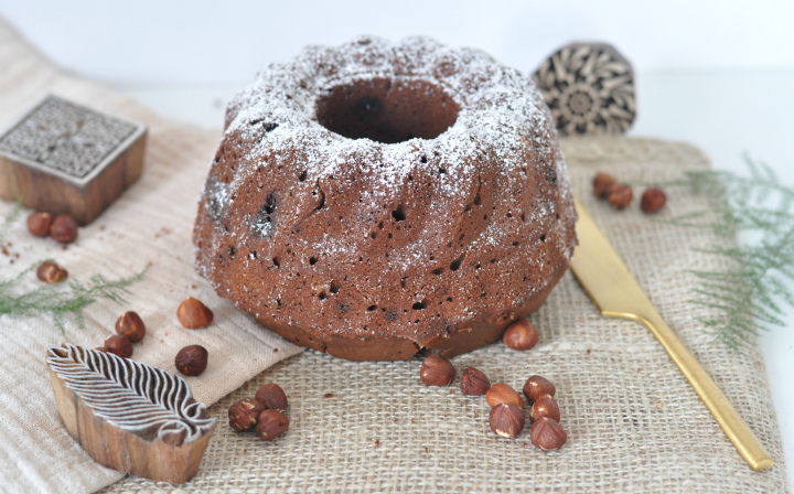 glutenfree Chocolate-Cake with Hazelnuts