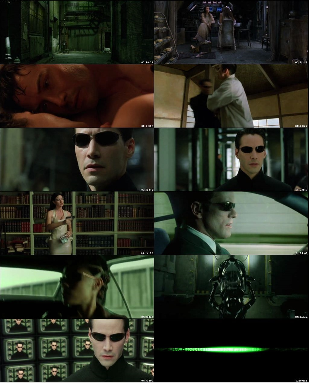 Screen Shot Of The Matrix Reloaded 2003 300MB Full Movie Hindi Dubbed Free Download 480P BRRip Small Size PC Movie