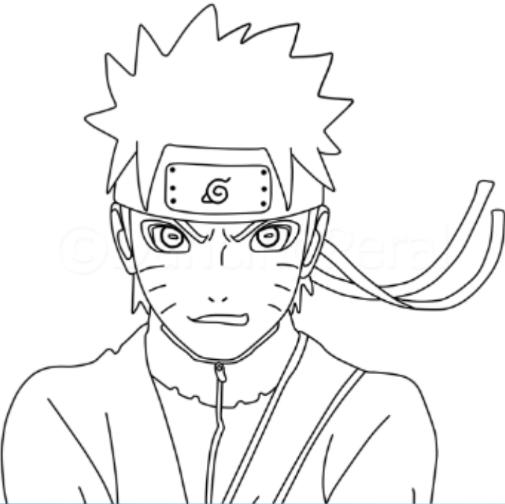 35 Gambar Anime Naruto Pake Pensil