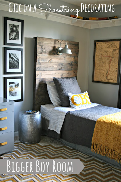 Bigger Boy Room Reveal by Chic on a Shoestring Decorating