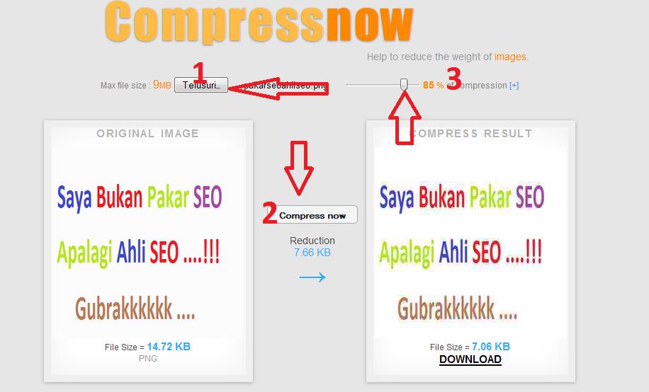 Cara Compress Image Gambar Blog