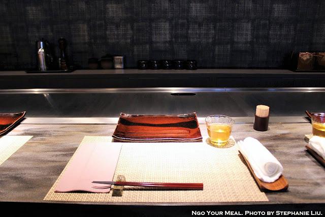 Table setting at Mouriya Honten in Kobe, Japan