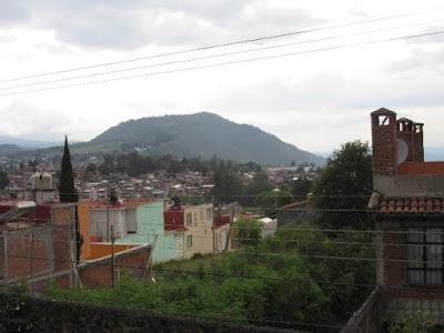 Vista del cerro del Estribo en Pátzcuaro
