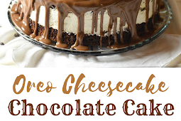 Oreo Cheesecake Chocolate Cake #Oreo #Cheesecake #Chocolate #Desserts