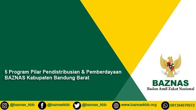 5 Program Pilar Pendistribusian Pemberdayaan BAZNAS Kabupaten Bandung Barat