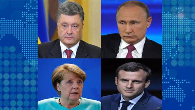 Germany, Russia, Ukraine, France vow to implement peace plan in Donbass