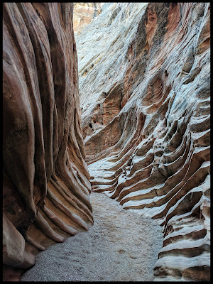 Love these Ridges that almost look like a rib cage in the Little Horse Slot Canyon.
