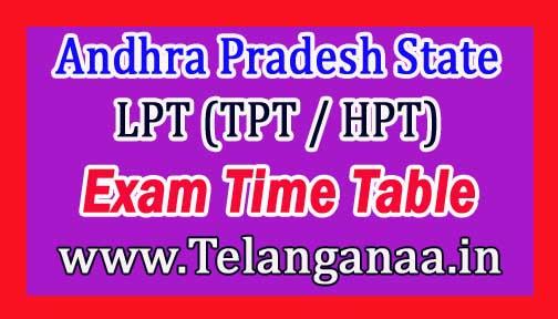 AP LPT (TPT / HPT) Time Table Download Jan-2017