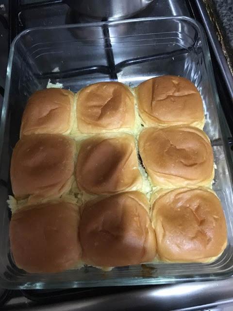half of dinner rolls