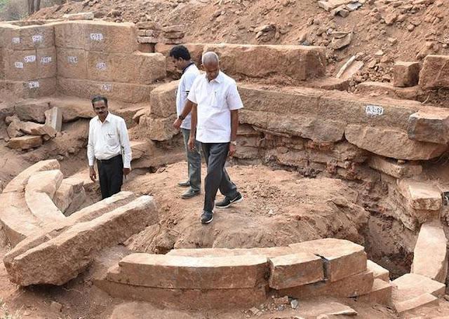 Buddhist remains found at India's Kondaveedu fort