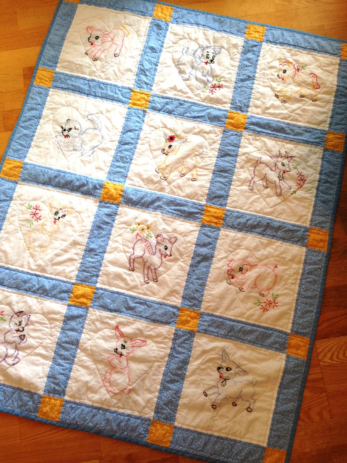 How to make a group baby quilt knitionary for How to make a quilt template