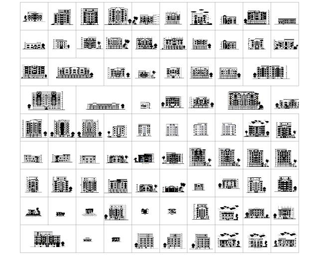 Bản vẻ tổng hợp 300 mặt đứng khác nhau