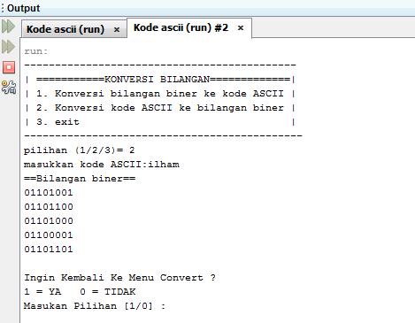 Program Java untuk konversi Ascii ke Biner | IT-Jurnal.com