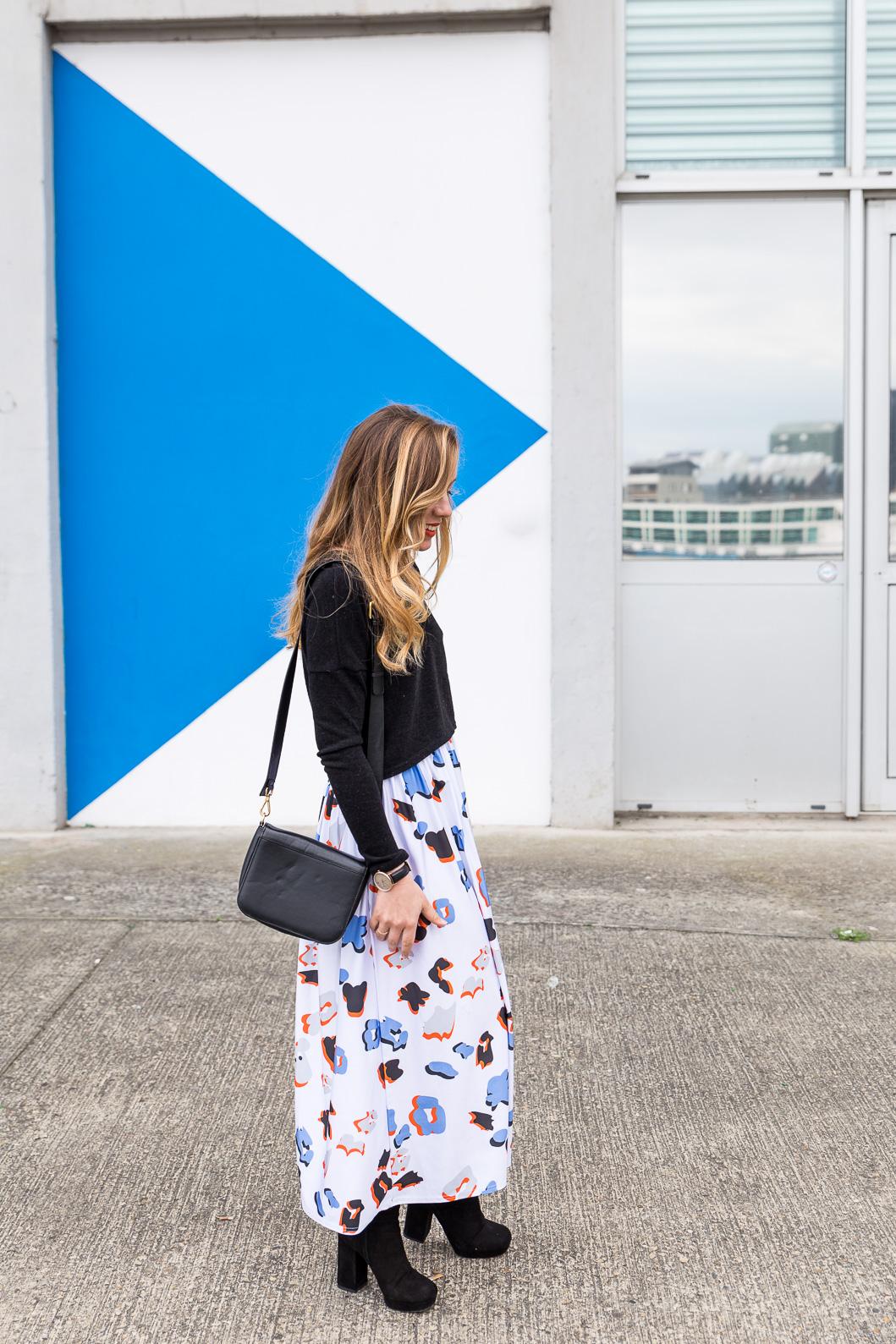 Blog mode tenue du jour jupe longue