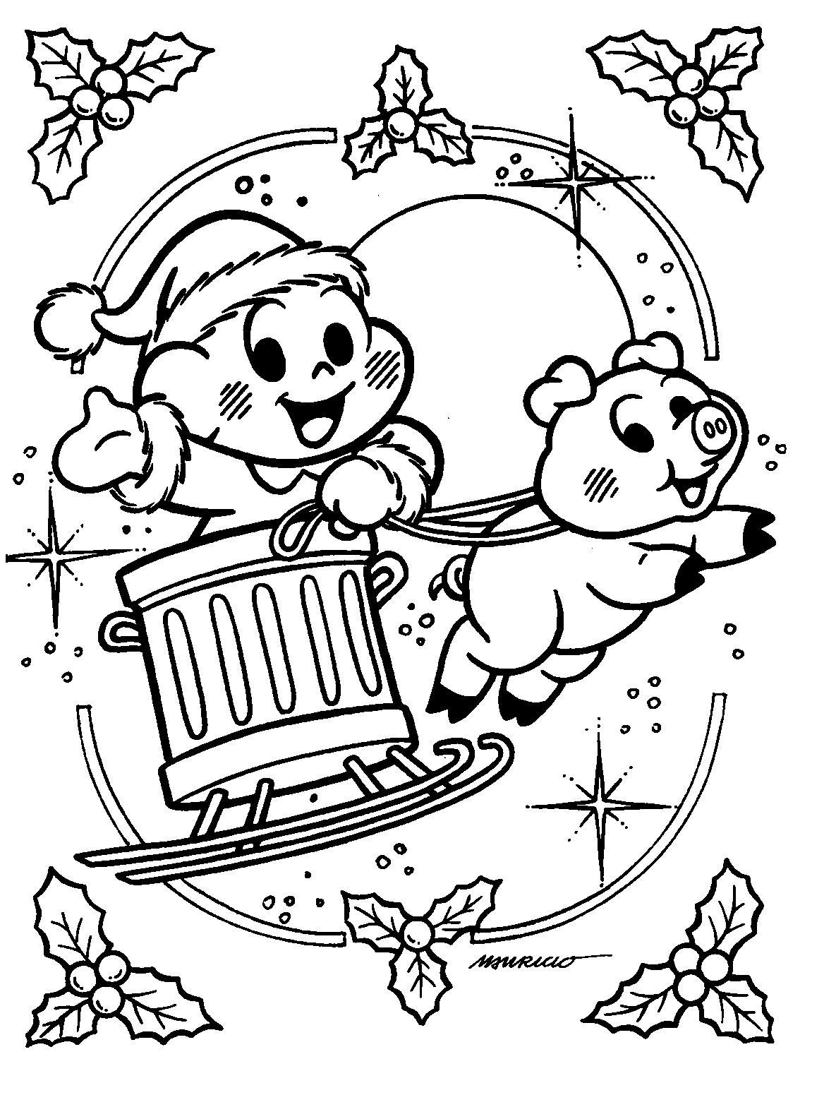 a arte de educar desenhos de natal para pintar