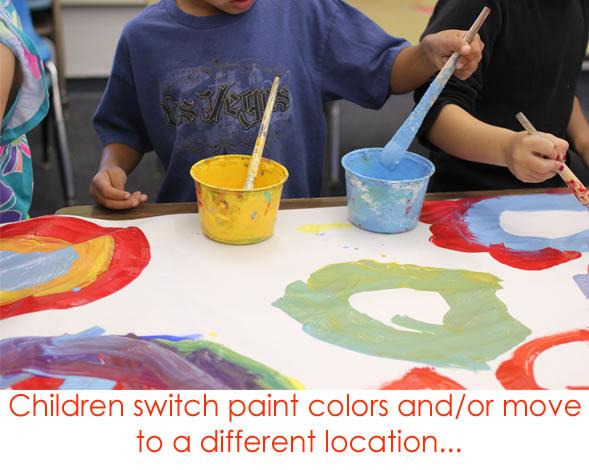 Circle Painting tempera paints