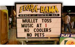 Interstate Mullet Toss and Gulf Coast Beach Party, Flora-Bama, Orange Beach-Perdido Key