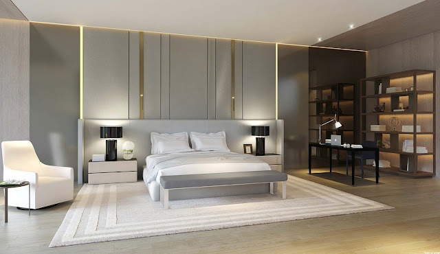Examples of luxurious and comfortable bedrooms with modern interiors