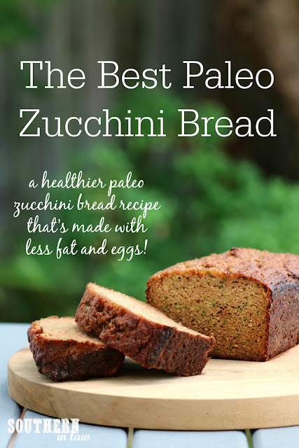 The Best Healthy Paleo Zucchini Bread Recipe - low fat, gluten free, low sugar, refined sugar free, low carb, dairy free, grain free, paleo