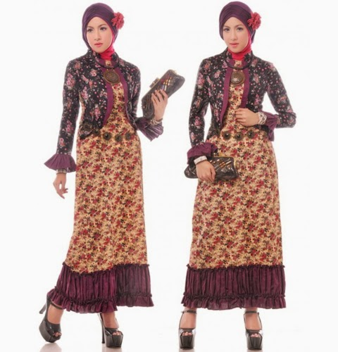 model baju muslimah batik