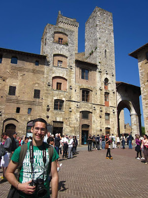Towers of San Gimignano from Piazza della Cisterna