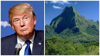 Donald Trump şi muntele - colaj efectuat de mine, imaginile preluate de pe wikipedia.org si androidcentral.com