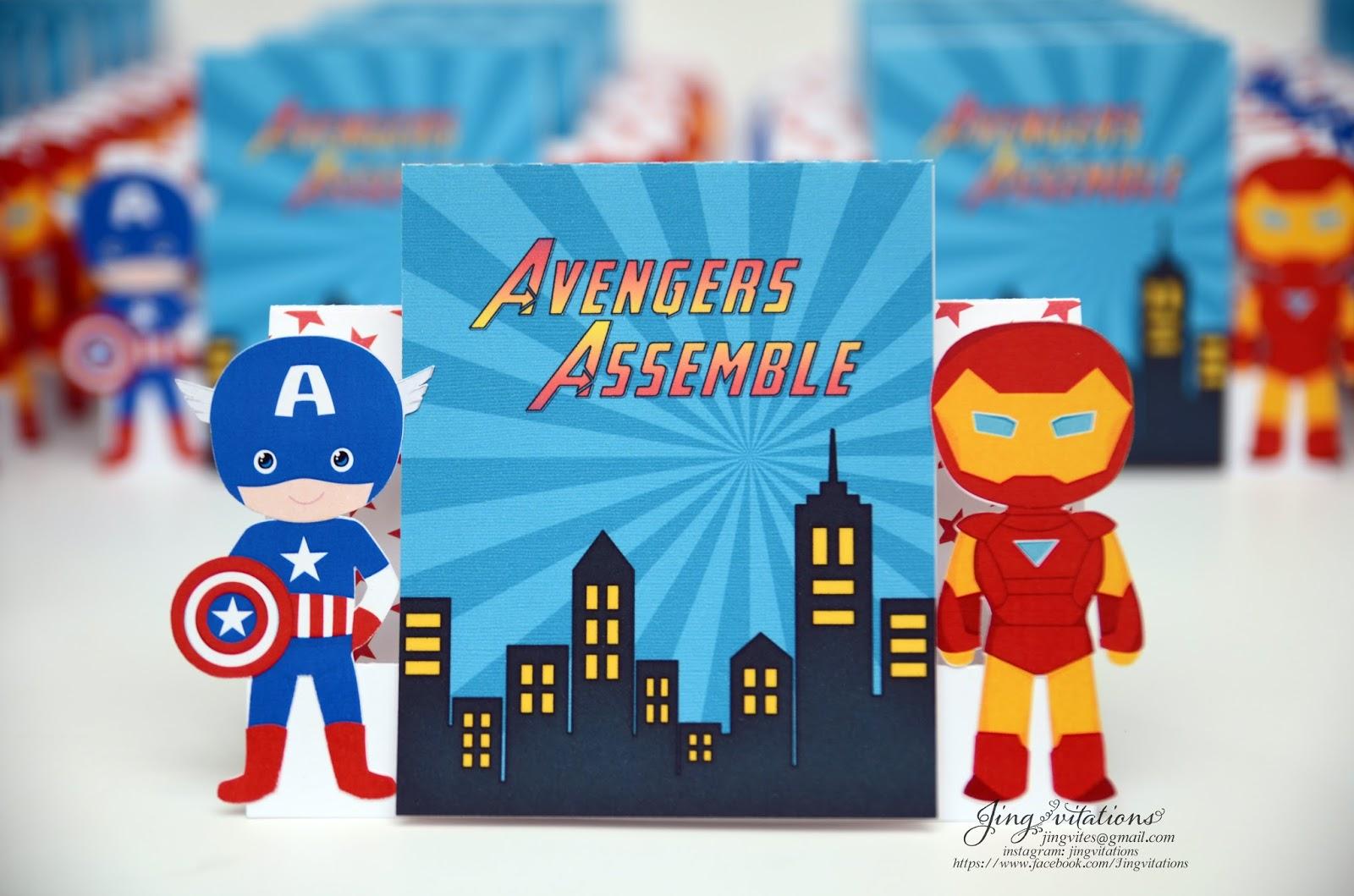 Jingvitations: Capt. America and IronMan Invitations