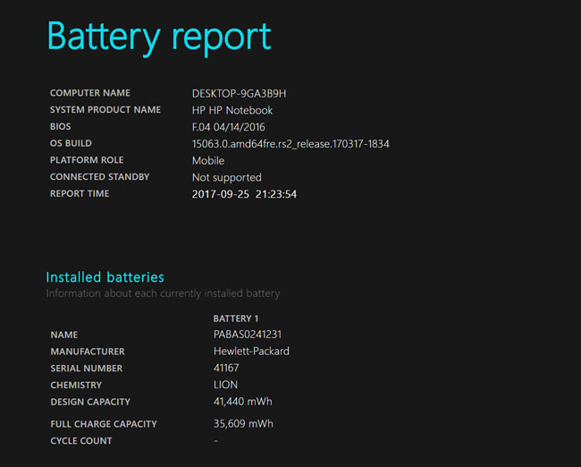 How To Get Battery Health Report In Windows 10