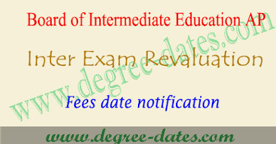 AP inter exam revaluation details 2017 1st 2nd year fees last date