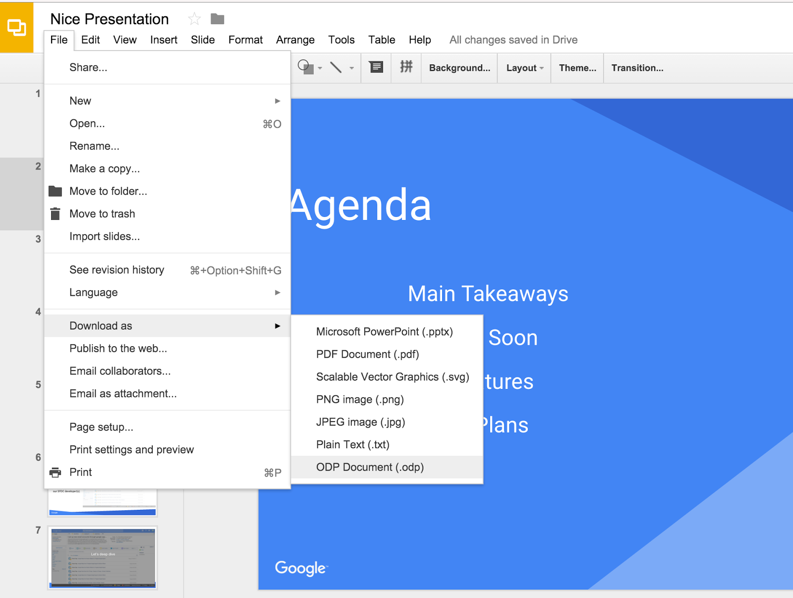 g suite updates blog export presentations in opendocument