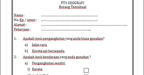 Geografi Pt3 Perkara 2 Proses Awal